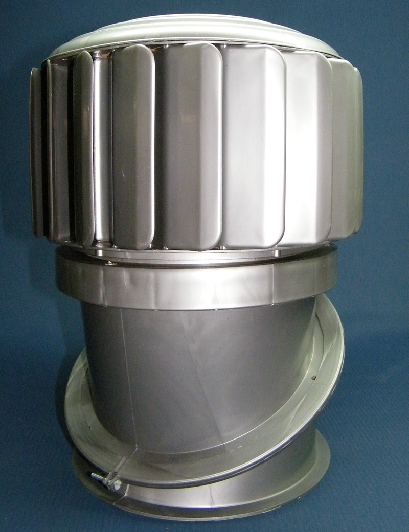 240mm Roof Whirly - Wind Turbine Ventilator - adapted for highly corrosive environments